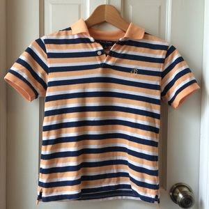 Brooks Brothers Boys Striped Pique Polo
